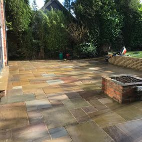 Jet washed patio