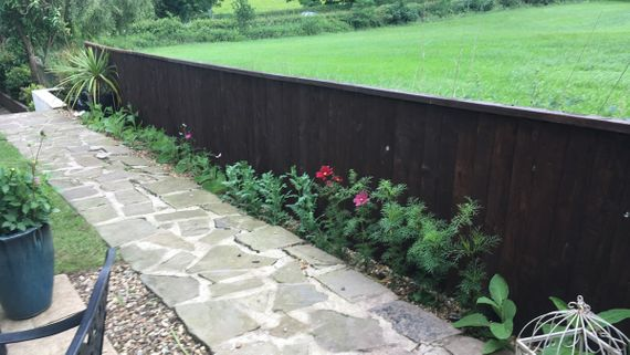 Short fence that has been added by our talented team